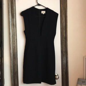 Black Aritzia low cut dress!